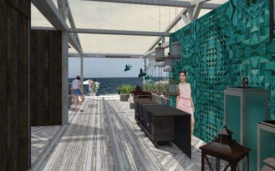 Aménagement d'une plage privée – concours Palm Ray – Carnon