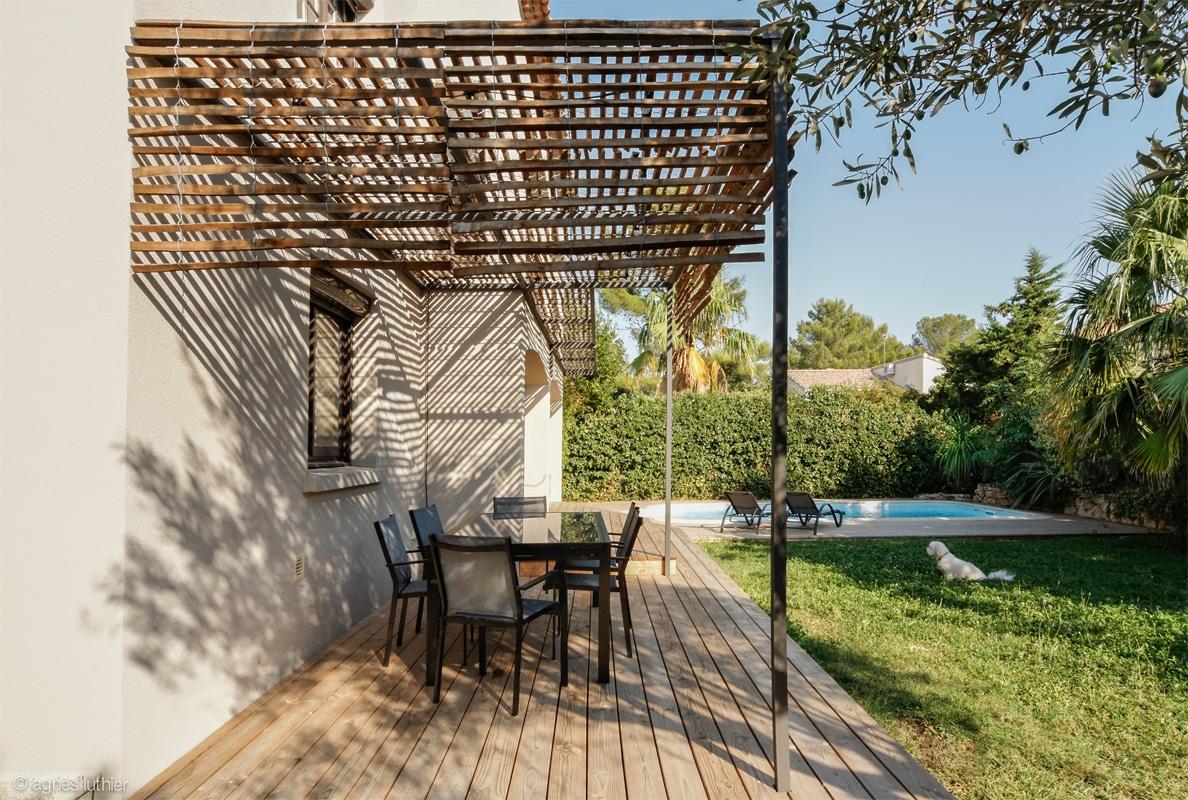 aménagement extérieur - terrasses - protection solaire - pourtour